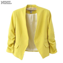 Women Blazers And Jackets 2018 Spring New Fashion Candy Color Slim Short Design