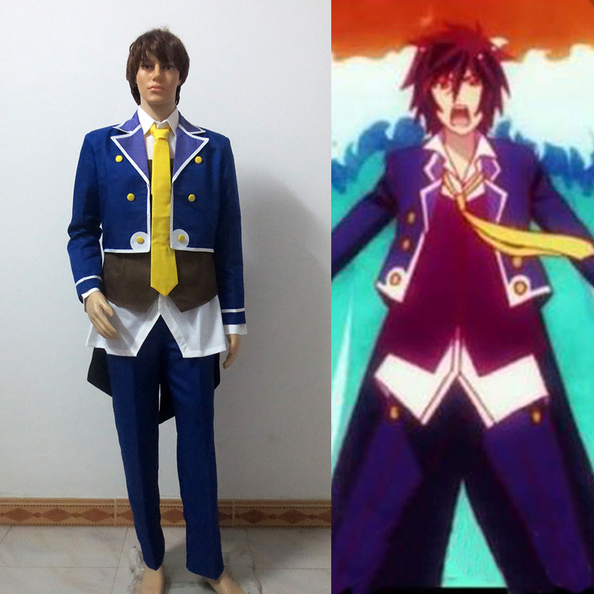 Anime NO GAME NO LIFE Game life cos Vincero Perdero hero cosplay costume Sora uniform set deacon costume