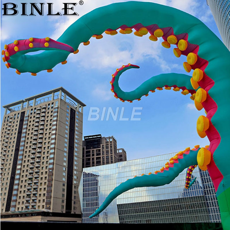 2018 7m most popular different color giant inflatable octopus tentacles octopus legs for event advertising free shipping 10m giant inflatable octopus model with digital printing for advertising blow up squid for decoration show toys