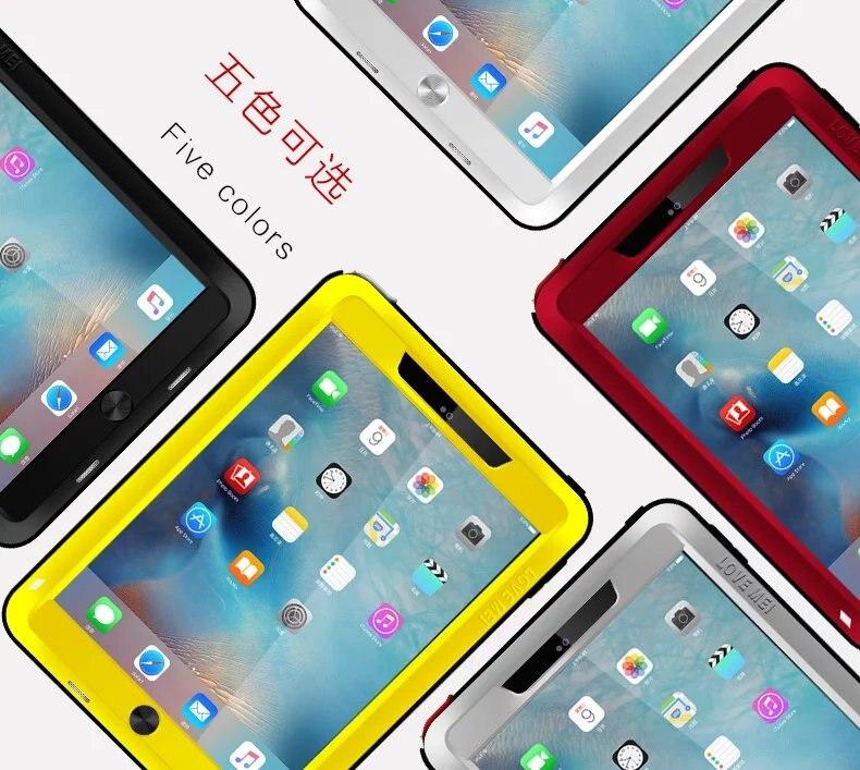 все цены на Love Mei Shockproof Waterproof Case Cover For iPad Mini 1 2 3 4 iPad 2 3 4 5 6 Air 2 iPad Pro 9.7 Temperd Glass Screen Protector онлайн