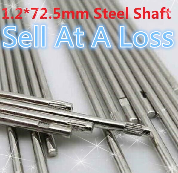 10 pcs/lot K220B 1.2*72.5MM DIY Cars Steel Shaft Axis Model Embossing Metal Connecting Rod Sell At A Loss USA Belarus Ukraine