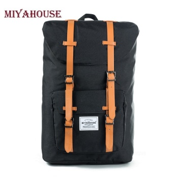European American Style Backpacks Black Unisex Backpack Men Canvas Backpack Women School Backpacks Laptop Travel Bag