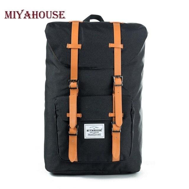 European American Style Backpacks Black Unisex Backpack Men Canvas Backpack Women School Backpacks Laptop Travel Bag