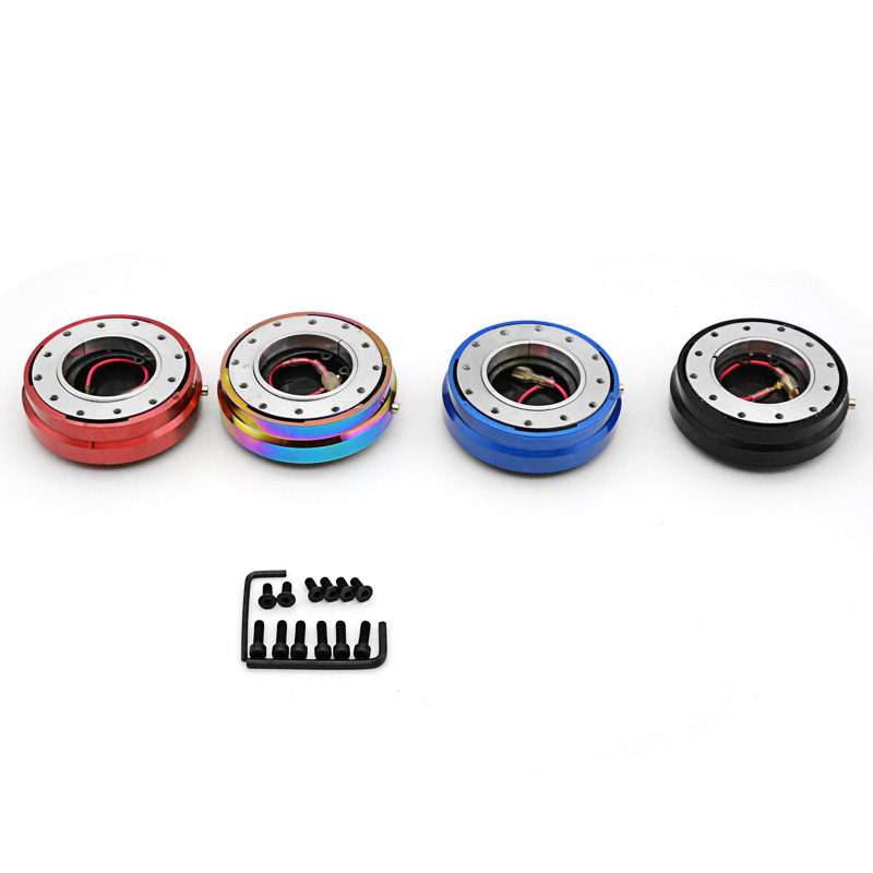 Thin Version 6 Hole Steering Wheel Quick Release Hub Adapter Snap Off Boss kit