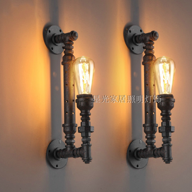 Water Pipe Wall Lamps American Vintage RH Loft Decoration Tieyi ...