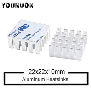 10Pcs YOUNUON  IC Chipset Sliver 22x22x10mm Chip Radiator Aluminum Heat sink