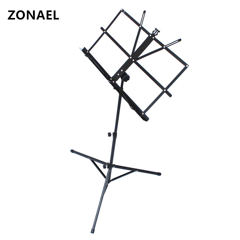 ZONAEL Product Lightweight Sheet Music Metal Stand Holder Folding Foldable With Waterproof Carry Bag Hot Selling Guitar Parts наматрасники candide наматрасник водонепроницаемый waterproof fitted sheet 60x120 см