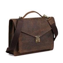 New Genuine Leather Men's Bags Crazy Horse Restoring Ancient Ways Handbags Shoulder Bag Wholesale Men's Briefcase