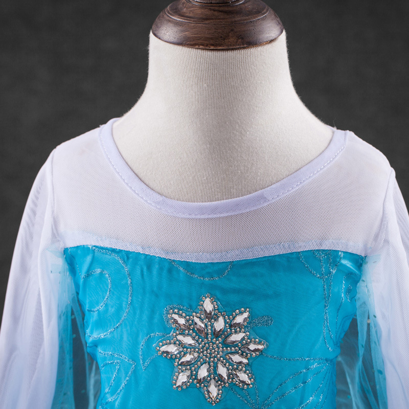 HTB1kkjpbgvD8KJjy0Flq6ygBFXam 2019 Elsa Dresses For Girls Princess Anna Elsa Costumes Party Cosplay Elza Vestidos Hair Accessory Set Children Girls Clothing