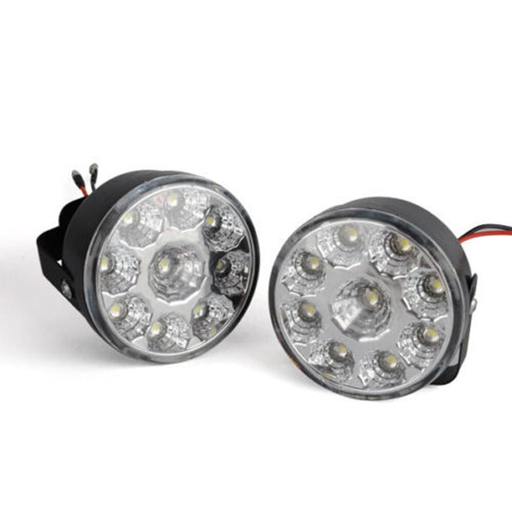 Liplasting Brand 2PCS 27W Daytime Driving Running Lights Round 12V Work Lamps Car LED Lights High Quality