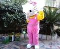 Из взрослые размер Hello Kitty ростовая кукла костюм комикс одежда из заряд