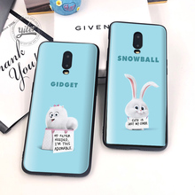 Cute Love pets Black Cover For Case Oneplus 6T 7 Funda for Phone Cases 1+6T Capa