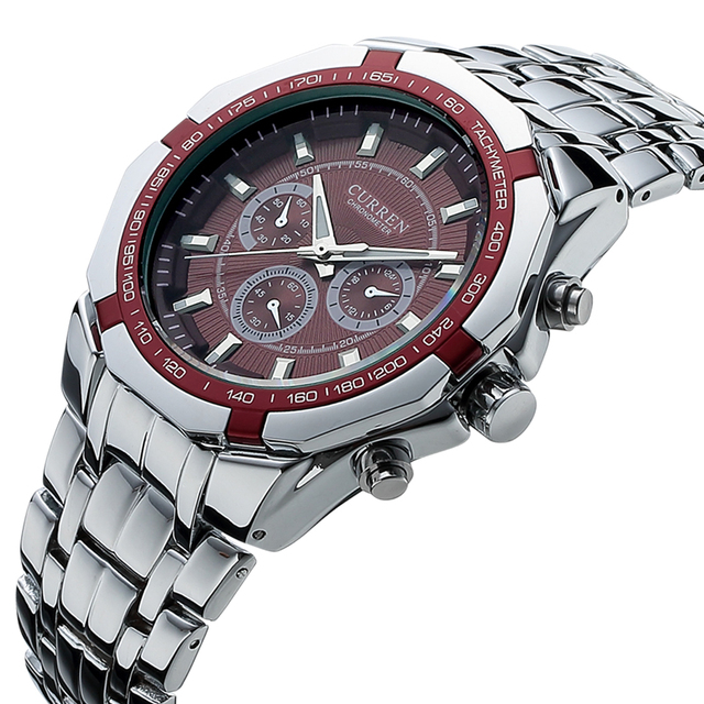 76375e8f483d Reloj Masculino Curren hombres relojes de la marca de lujo de acero  inoxidable reloj de cuarzo