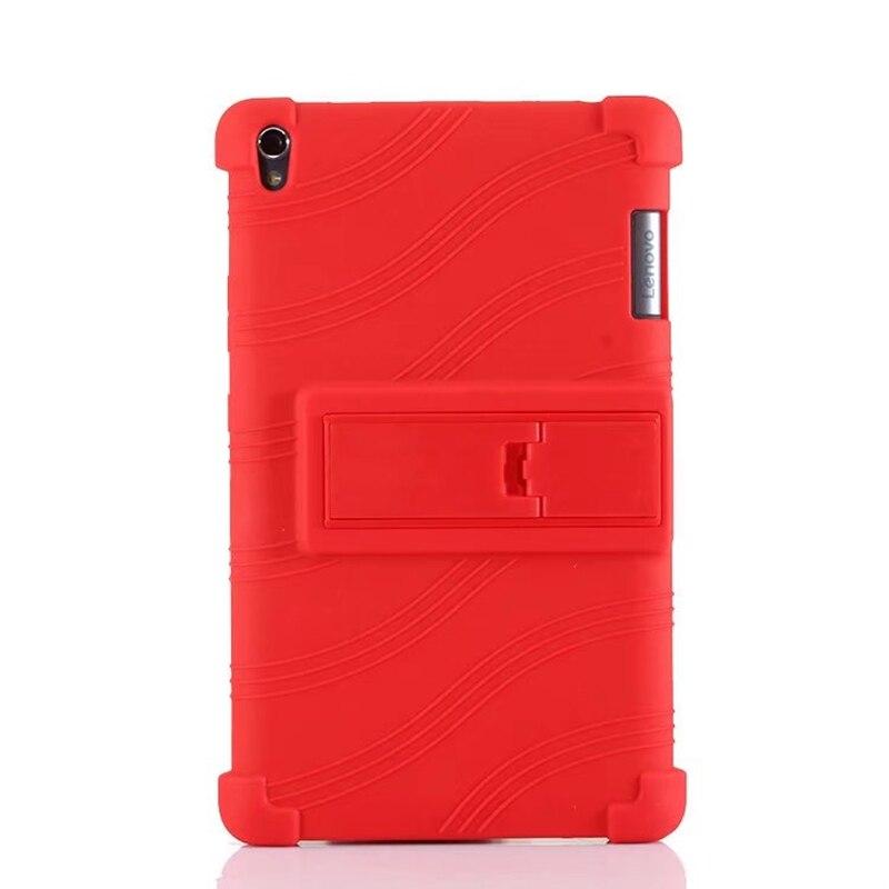 Soft Silicon TPU Back Cover Stand for Lenovo Tab 3 Tab3 8 Plus P8 TB-8703 TB-8703F TB-8703X TB-8703N 8 Tablet Case Stylus Pen