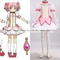 Puella Magi Madoka Magica Anime Kaname Madoka Cosplay Costume Lovely Lolita Pink Dresses Women Dress For Halloween