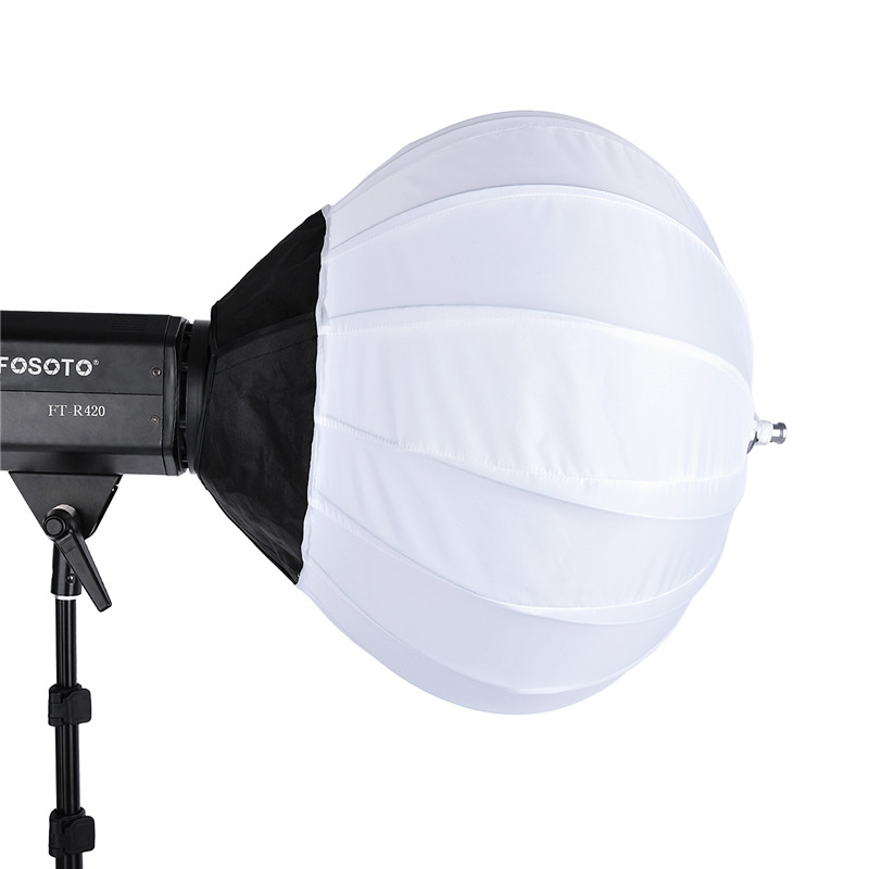 fosoto 50 cm Collapsible Sphere Softbox Paper Lantern Ball Shape Globe Diffuser Bowens Mount for Photo Studio Flash Strobefor