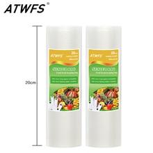 Вакуумный пакет для еды 20 см x 500 см 1 рулон для кухонных вакуумных пакетов для хранения упаковочная пленка сохраняет свежесть до 6 раз дольше