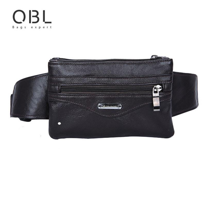 Casual Business Cow Äkta Läder Män Midja Pack Crossbody Bag Mode - Bälten väskor - Foto 2