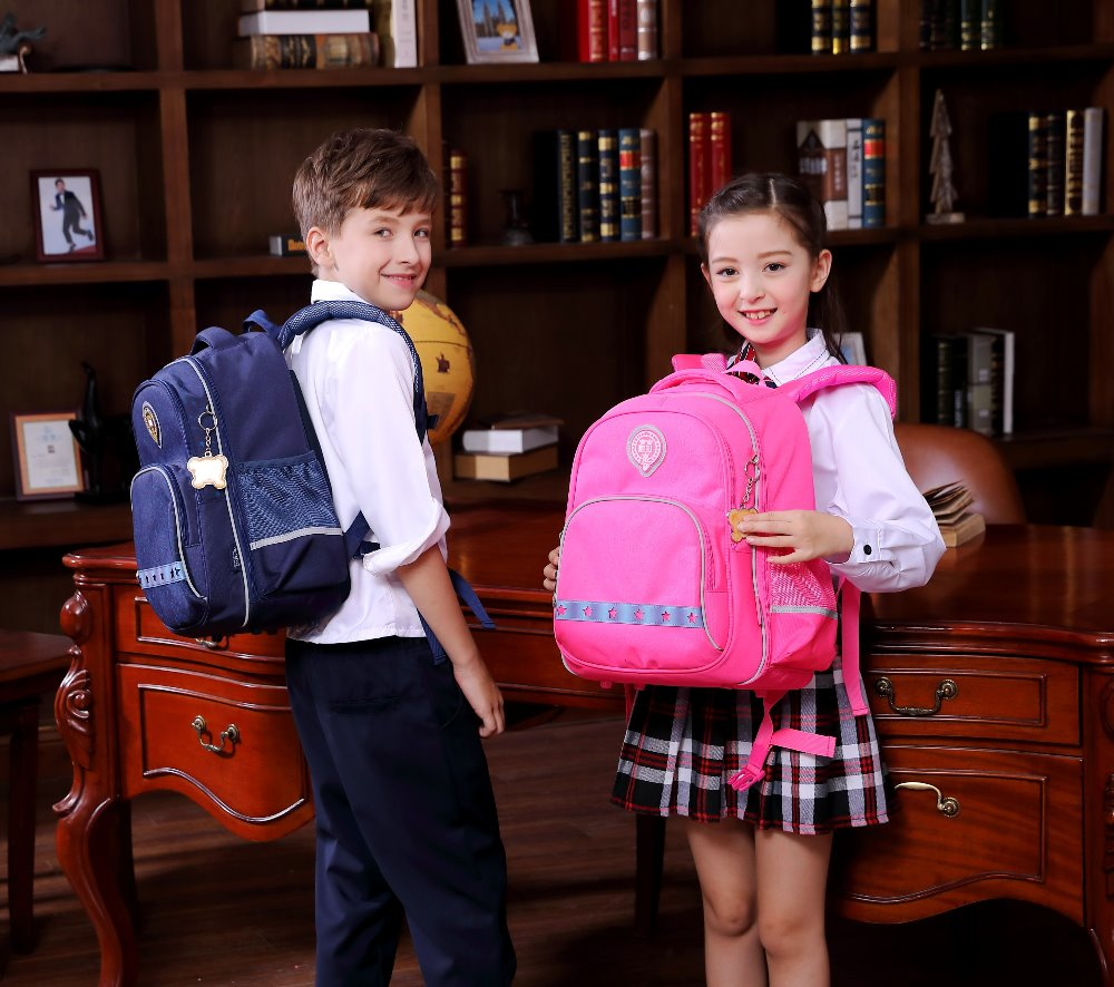 New University of Oxford Orthopedic school bags backpack reflective for kids boys girls