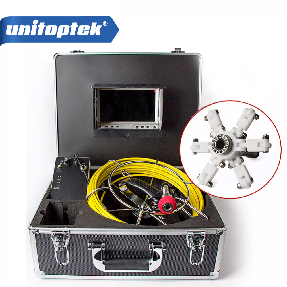 20m Cable Fiber Glass 7'' TFT LCD Waterproof Pipe Sewer Inspection Camera Color 1/3 CMOS 1000TVL 12 Leds Endoscope Snake Camera dhl free wp90 50m industrial pipeline endoscope 6 5 17 23mm snake video camera 9 lcd sewer drain pipe inspection camera system