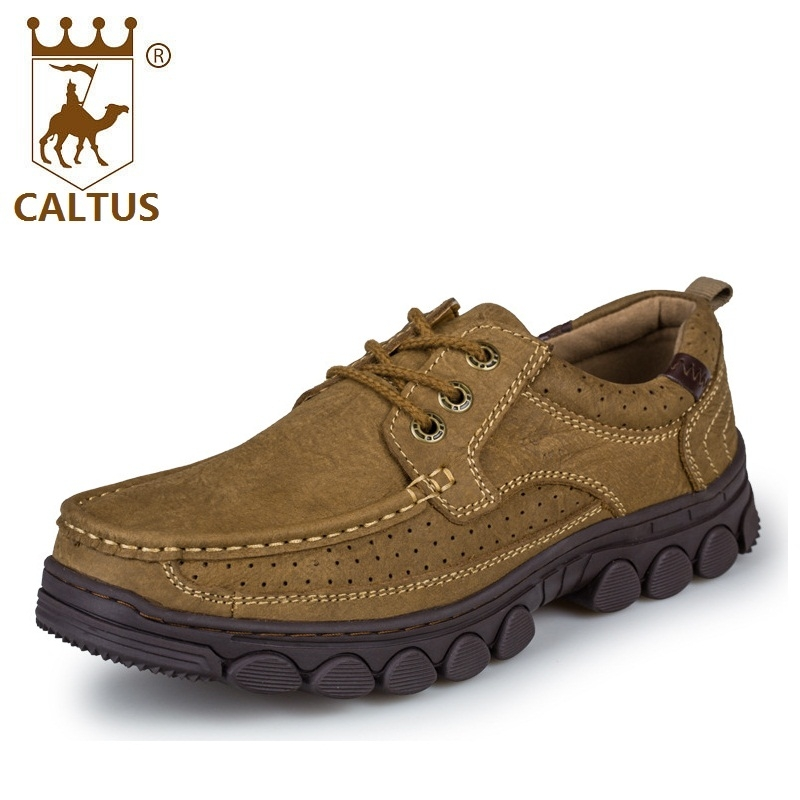 CALTUS Boys Casual Shoes Soft Footwear Classic Men Oxfords Genuine Leather Shoes Flats Fashion High Quality AA20521 caltus casual shoes men breathable new fashion oxfords men flats genuine leather spring autumn breathable driving shoes aa20518