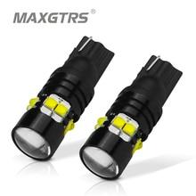 2x T10 194 168 W5W CREE чип светодио дный лампы 50 Вт с Len лампы ДРЛ салона обратный резервный источник света белый/желтый/красный
