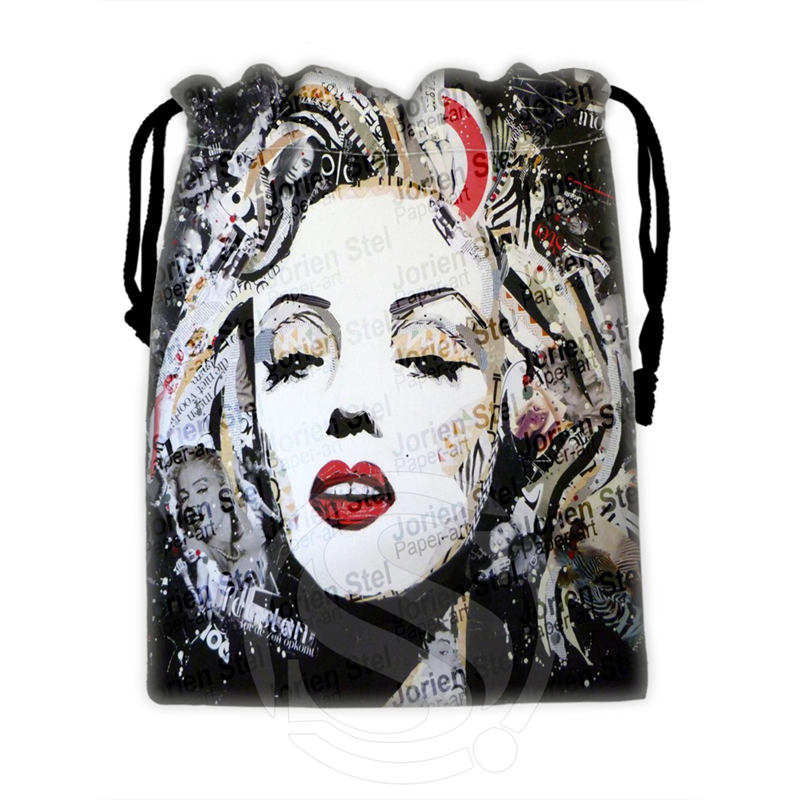 H-P744 Custom Marilyn Monroe collage#3 drawstring bags for mobile phone tablet PC packaging Gift Bags18X22cm SQ00806#H0744