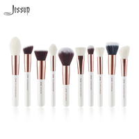 Jessup Pearl White Rose Gold 10pc Makeup Brushes Brushes Foundation Tool Powder Make Up Brush Blushes