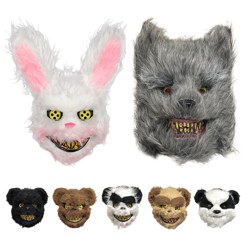 Scary Animal Halloween Horror Plush Masks