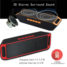 Bluetooth Speaker Wireless Portable Mini Audio Box With Microphone FM Radio Charging AUX Cable TF Card Slot For MP3 Phone PC