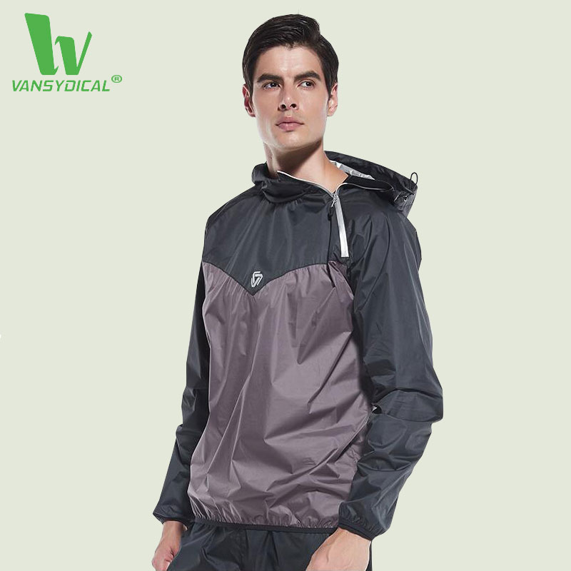 VANSYDICAL 2017 Newest Running Jacket Men Polyester Hooded Zipper Sports Soccer Autumn Winter Training Gym Coat with Long Sleeve