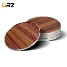 ORZ 4PCS Wooden Mug Coasters Tea Coffee Cup Mat Table Decor Pad Heat Insulated Placemat Tablemat Tableware Kitchen Accessories