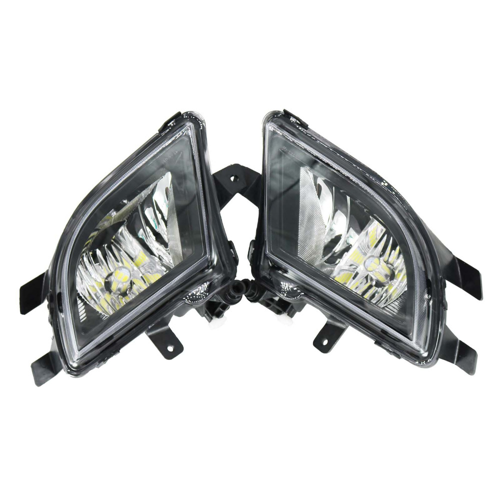LED Light For VW Jetta MK6 Facelift Sedan 2015 2016 2017 Front LED Fog Lamp Fog Light With Bulb Car Styling 1pair car styling clear front fog lights lamp with bulb for nissan altima sedan 2013 2015