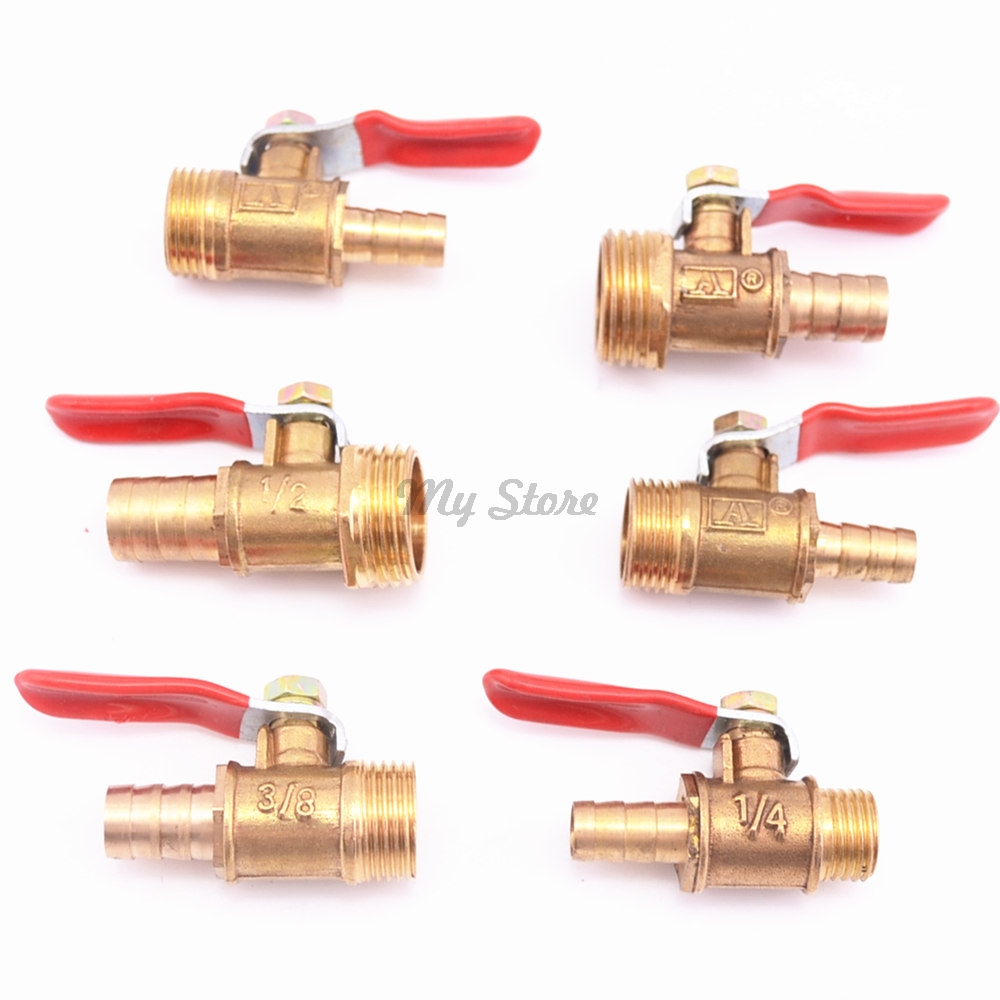 1/8 1/2 1/4Hose Barb BSP Male Thread Straight Barbed Brass Connector Joint Copper Pipe Fitting Coupler Adapter
