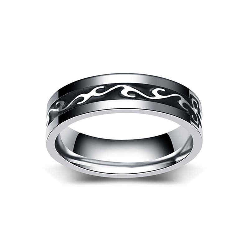Винтажные кольца из нержавеющей стали, мужские кольца Anillos Mujer, ширина 6 мм, унисекс, мужские кольца в стиле бохо, индийские ювелирные изделия
