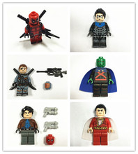 POGO star wars 6pcs/lot Deathstroke super heroes minifigures building blocks bricks toys children gift Compatible With Lego