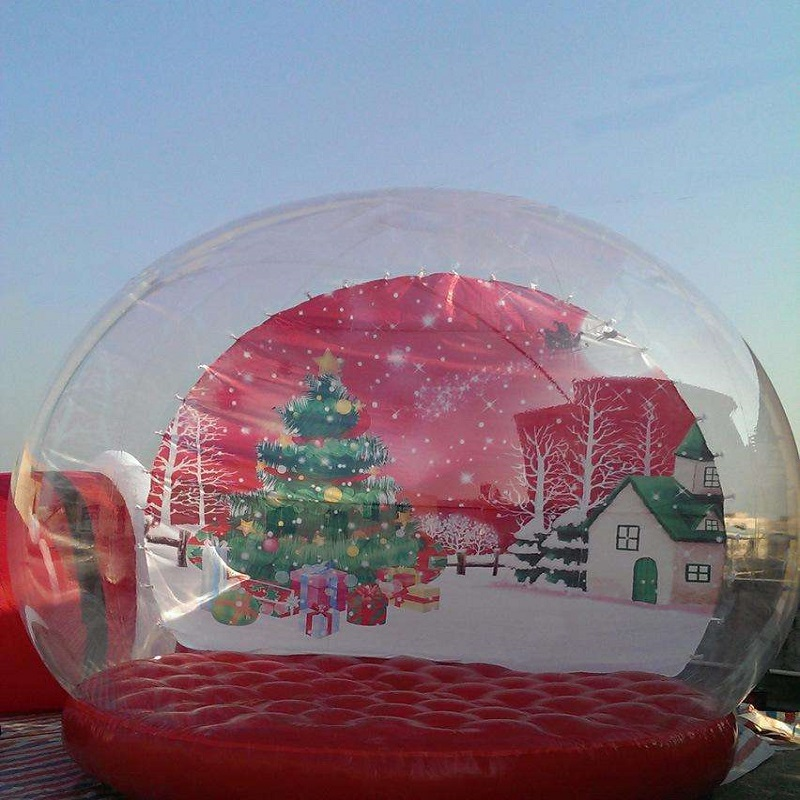 inflatable snowflake ball or inflatable Snowdome 2 M diameter snow globe exhibition start business Christmas цены онлайн