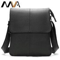 MVA Men's Genuine Leather Shoulder Bag Cover & Zipper Leather Crossbody Bags for Men Messenger Bag Men Shoulder Bags Male Flap