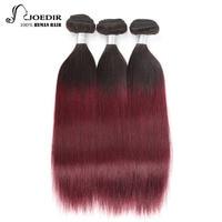 Joedir Ombre Hair t1b/99j Brazillian Straight Hair Bundles 100g 3 Pieces Remy Hair Bundle Deals Free Shipping