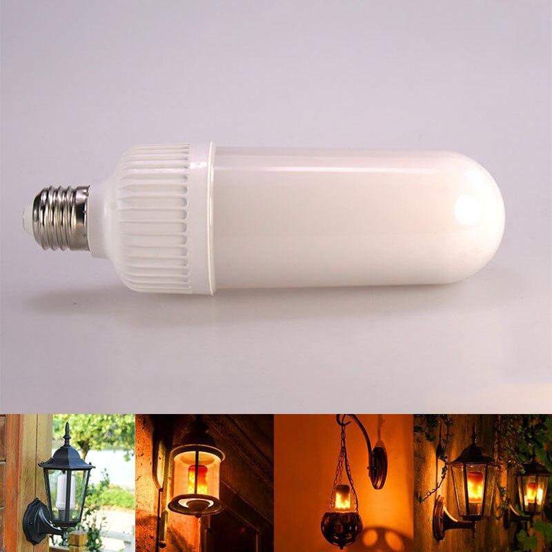 LED Flame Effect Fire Light Bulb E26 E27 SMD2835 Flickering Decorative Flame Lamp 1200K AC85V~265V