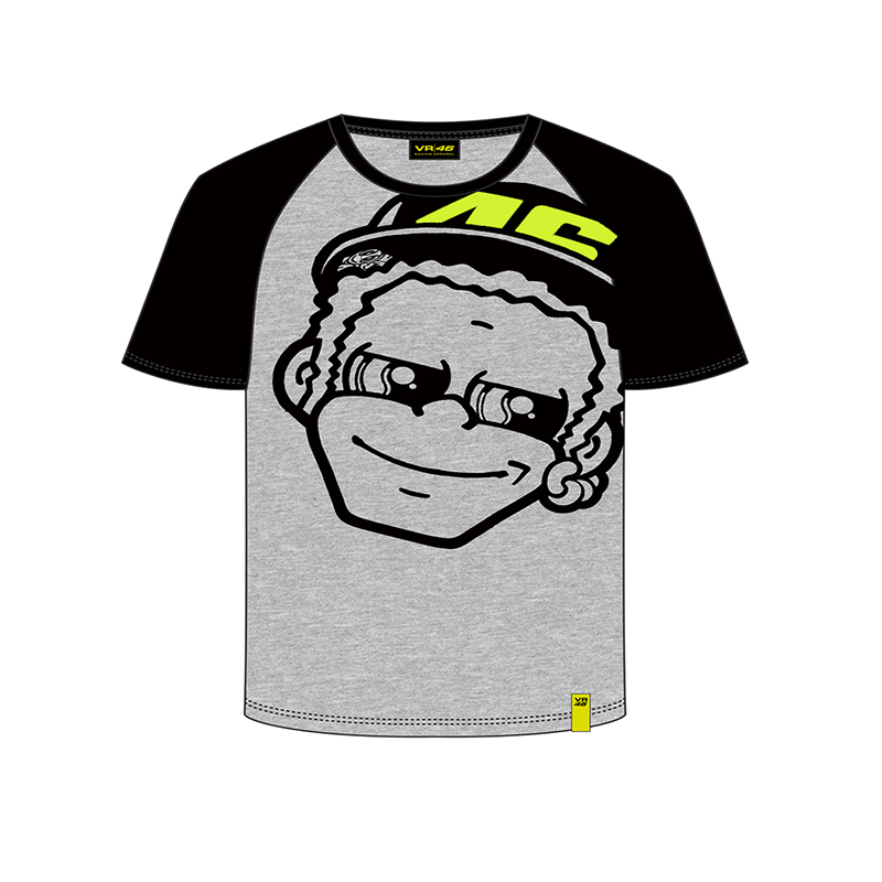 Valentino Rossi VR46 Moto GP Life Style Kids T-shirt fumetto the doctor Grey TShirt
