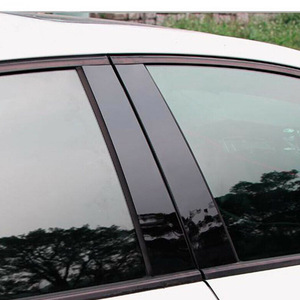 Image 2 - 8 ピース/セット BC 柱カバードア車の窓黒トリムストリップ PC プラスチックマツダ 3 2006 2008 2012 車の窓トリムストリップ