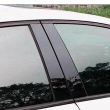 8pcs/Set BC Pillar Cover Door Car Window Black Trim Strip PC Plastic For Mazda 3 2006 2008-2012 Car Window Trim Strip цена 2017