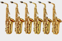 Brand New CG Japan Major Professional Custom Z Alto Saxophone 82Z 875ex With Case And Mouthpiece Gold Black Lacquered