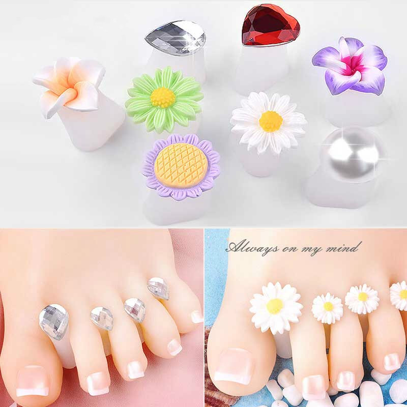 New Nail Art Tools Silicone Toe Separator Foot Pads For