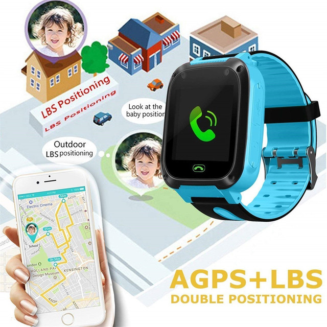 S4 Kids Smart Watch Phone LBS/GPS SIM Card Child SOS Call Locator Camera Screen Smartwatch Watches phone 2G#20 9