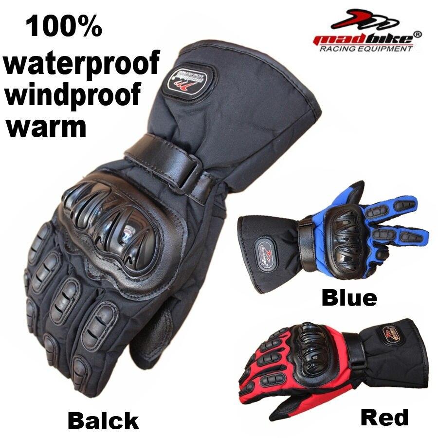 Gratis Pengiriman 1 Pair Moto Motorbike Motocross Racing Sarung Tangan Hiking Waterproof Windproof Motor Tahan Air Angin Musim Dingin Hangat Di Dari Mobil Sepeda