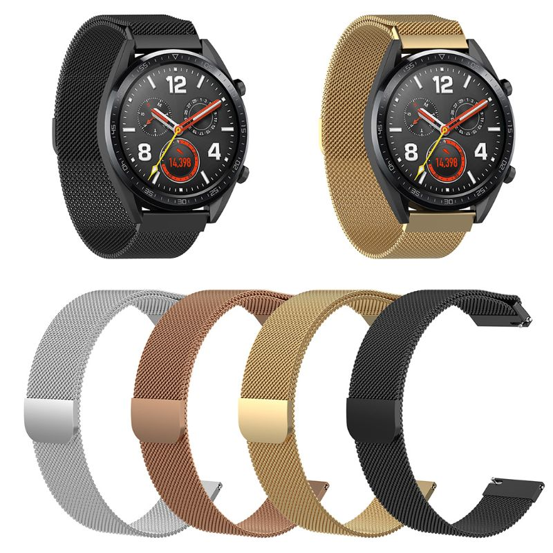 Replacement Smart Watch Wrist Band Stainless Steel Magnetic Strap Band for Huawei Watch GT/Honor