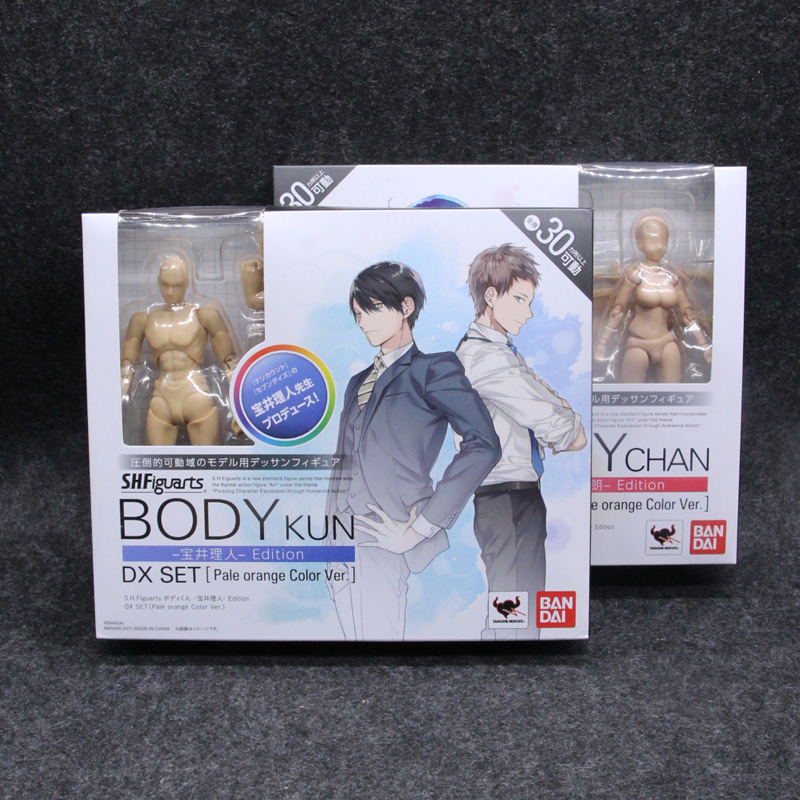 Original BODY KUN Takarai Rihito BODY CHAN Mange Drawing Figure DX BJD Pale Orange & Gray Color PVC Action Collectible Model Toy original high quality body kun takarai rihito body chan mange drawing figure dx bjd gray color pvc action collectible model toy