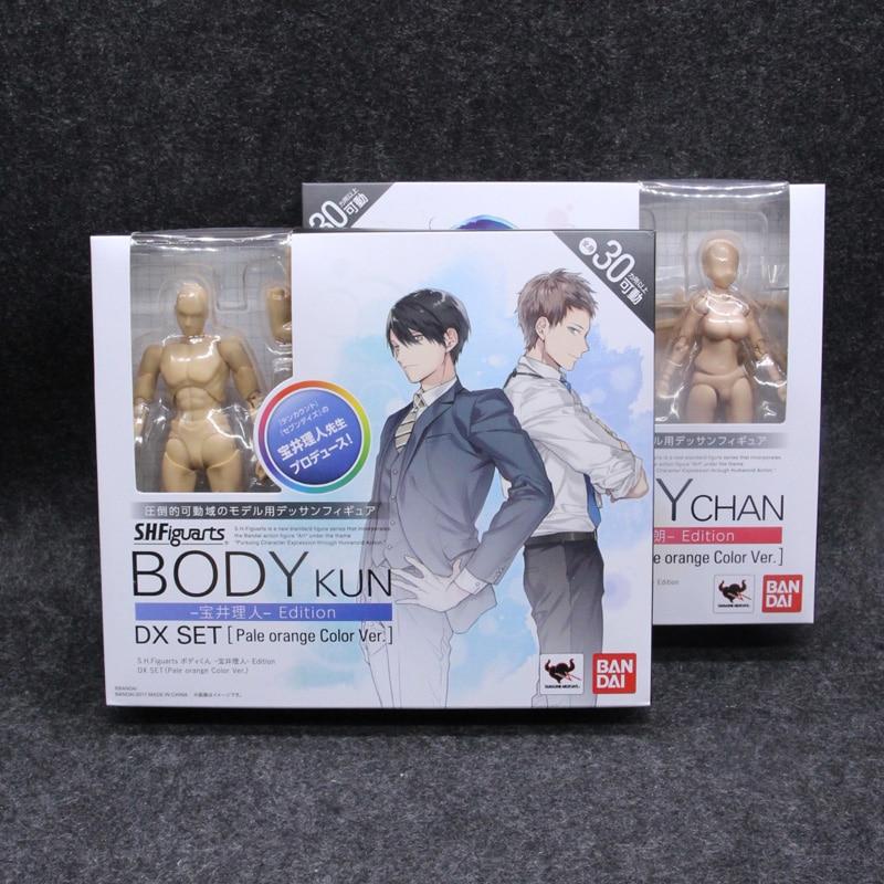 Original cuerpo KUN Takarai Rihito cuerpo CHAN Mange figura dibujo DX BJD pálido naranja y gris PVC acción coleccionable modelo de juguete